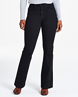 Black Everyday Bootcut Jeans Long