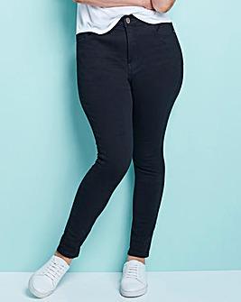 4 Way Stretch High Waist Jeans Short