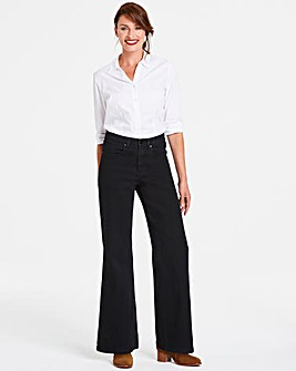 Petite Black Everyday Wide Leg Jeans