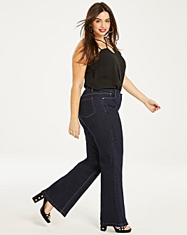 Indigo Everyday Wide Leg Jeans Long