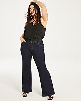 Indigo Wide Leg Jeans Long