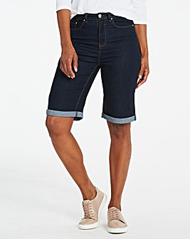 Indigo Everyday Knee Length Denim Shorts
