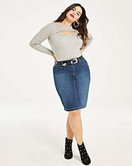 Blue Everyday Denim Skirt