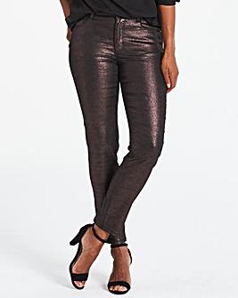 Sadie Plum Glitter Slim Leg Jeans
