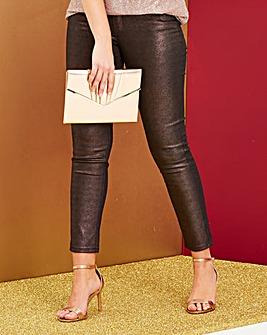 Plum Sadie Coated Glitter Slim Leg Jeans