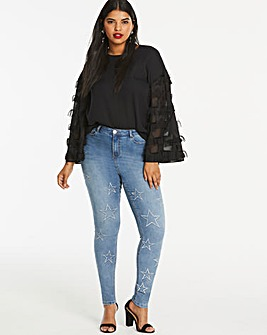 Chloe Star High Waist Skinny Jeans