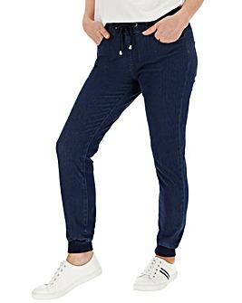 Indigo Jersey Denim Jogger Jeans
