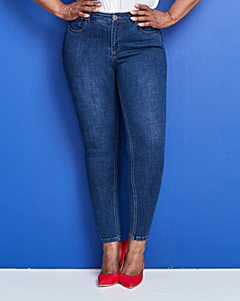 Indigo 4 Way Stretch High Waist Jeans