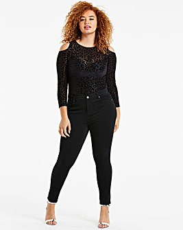 Petite Black 4 Way Stretch Skinny Jeans