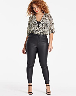 Black Chloe Coated Skinny Jeans