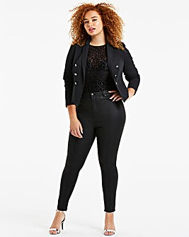Black Crackled Snake Chloe Skinny Jeans