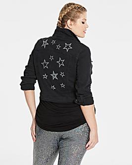 Simply Be Star Embellished Denim Jacket