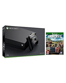 Xbox One X 1TB Black Console  Far Cry 5
