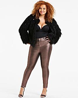Chloe High Waist Glitter Skinny Jeans
