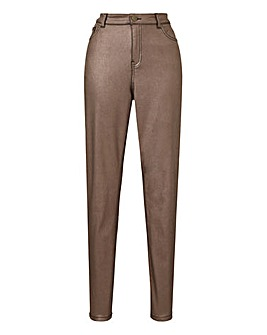 Sadie Bronze Glitter Slim Leg Jeans
