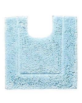 Silky Supersoft Pedestal Mat Chateau Blu