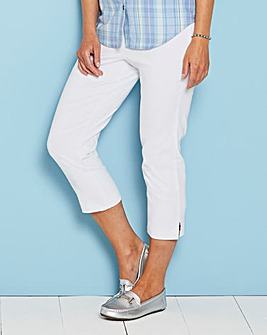 Julipa Stretch Pull on Cropped Trouser 21in