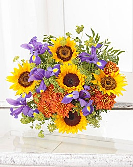 Sunflower and Iris Bouquet