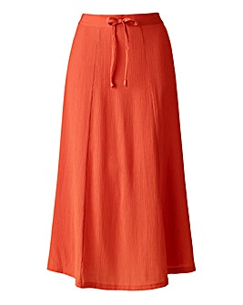 Plain Pull On Crinkle Skirt Length 29ins