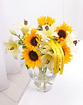 Sunflower and Lilly Bouquet