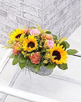 Sunflower Zinc Trough