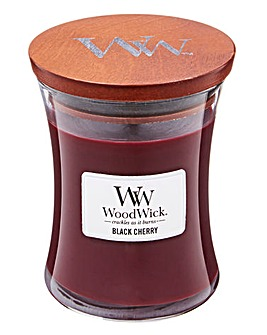 Woodwick Black Cherry Medium Jar Candle