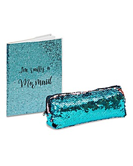 Mermaid Note Pad and Pencil case