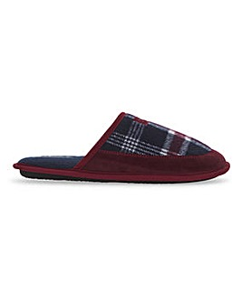 Dunlop Check Panel Mule Slipper