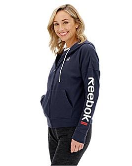 Reebok Linear Logo Fullzip Hoodie