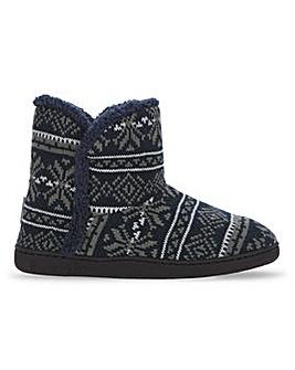 Dunlop Fairisle Knit Bootie