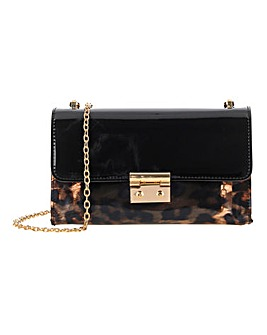 Leopard Print Transparent Shoulder Bag