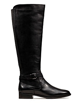 Clarks Netley Whirl Knee Boots Wide E Fit
