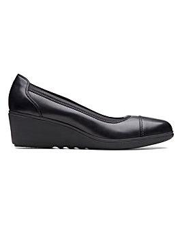 Clarks Un Tallara Liz Unstructured Wedge Shoes Standard D Fit