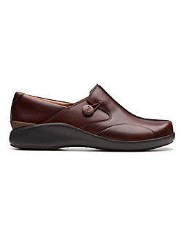 Clarks Un Loop 2 Walk Unstructured Slip On Shoes Standard D Fit