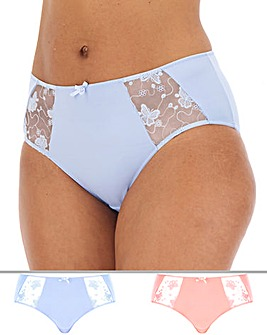 2Pack Butterfly Embroidery Midi Brief