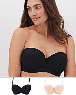 2Pack Feather Touch Multiway Moulded Bra