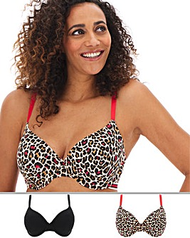 Pretty Secrets 2 Pack Value T Shirt Bras