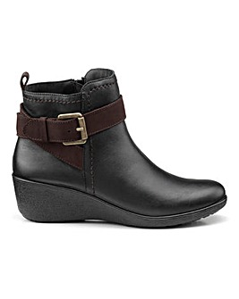 Hotter Plymouth Wedge Ankle Boots Standrad D Fit