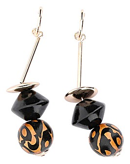 Animal Bead Drop Earrings