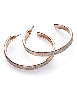 Glitter Detail Hoop Earrings