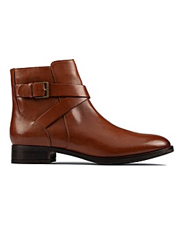 Clarks Hamble Buckle Leather Boots E Fit