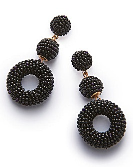 Seedbead Statement Drop Earrings