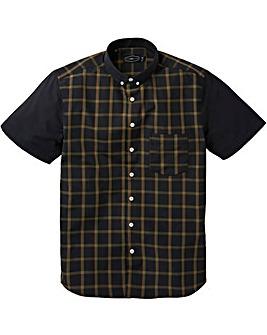 Label J Block Short Sleeve Check Shirt