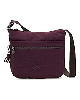Kipling Arto Medium Dark Plum Crossbody