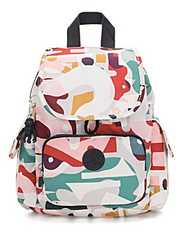 Kipling Music Print City Backpack