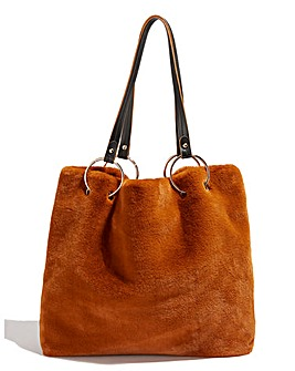 Oasis Faux Fur Ring Detail Tote