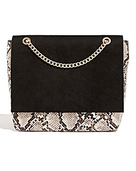 Oasis Snake Print Foldover Shoulder Bag
