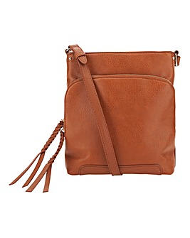 Oasis Tan Cross Body Bag
