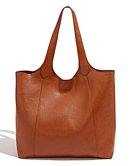 Oasis Scooped Tan Shopper Bag