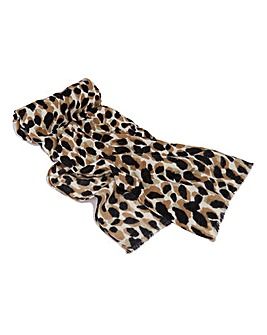 Oasis Watercolour Leopard Scarf